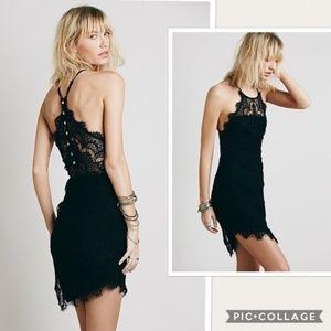 NWT Free People She s Got It Lace Black Dress